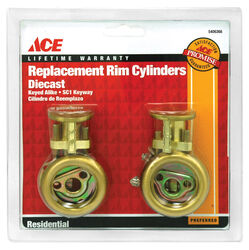 Ace  SC1  Brass  Brass  Rim Cylinder  Keyed Alike