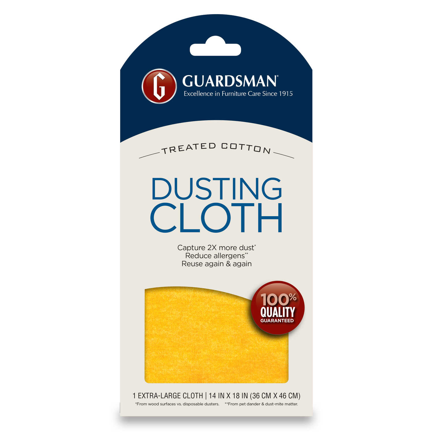Guardsman  Cotton  Cleaning Cloth  14 in. W x 18 in. L 1 pk
