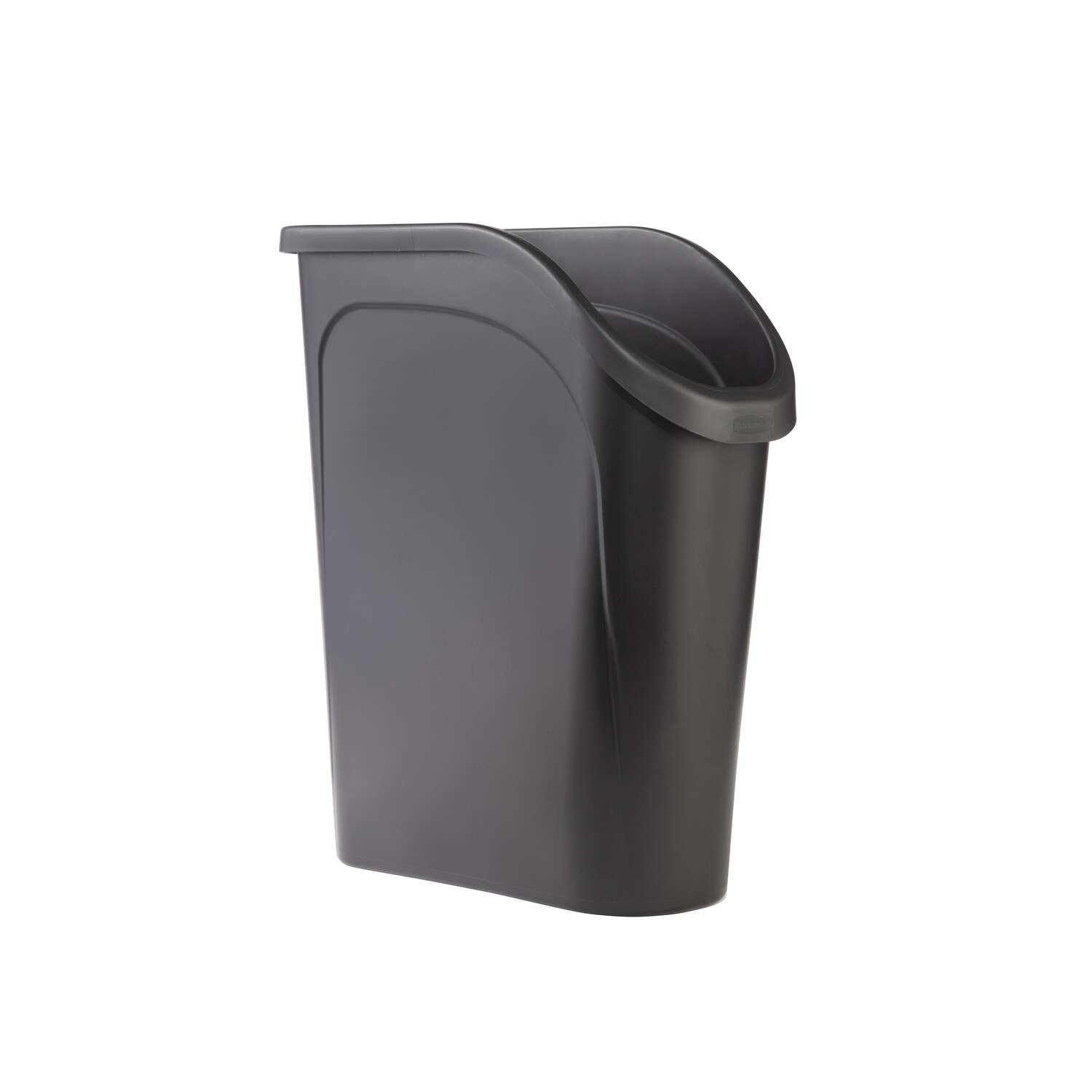 Rubbermaid 6.4 gal. Black Resin Under Counter Wastebasket
