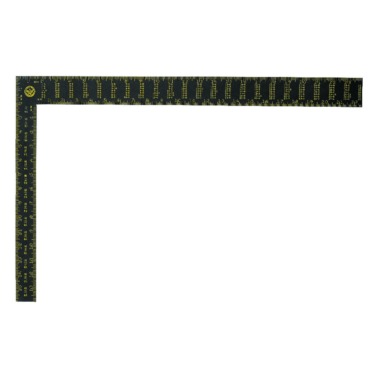 Stanley  24 in. L x 16 in. H Aluminum  Rafter Square  Black