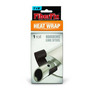 FiberFix  Heat Wrap  70 in. L x 2 in. W Black  Tape
