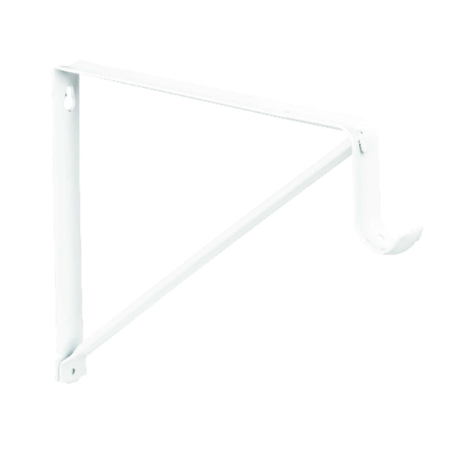 Knape & Vogt  John Sterling  White  Steel  Shelf/Rod  Bracket  9-1/2 in. H x 13 in. L 250 lb.