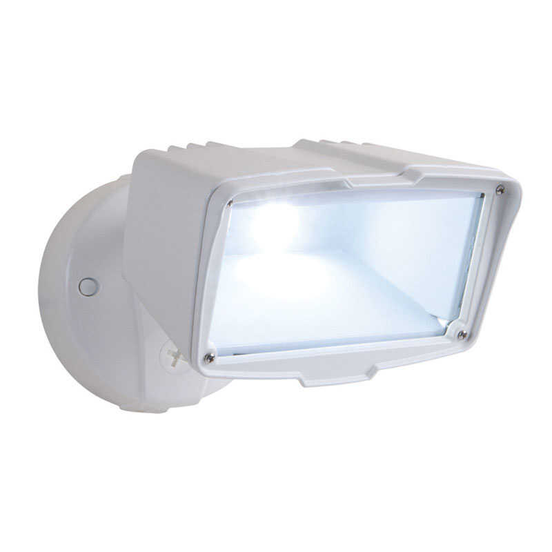 All-Pro  Switch  Hardwired  White  Floodlight