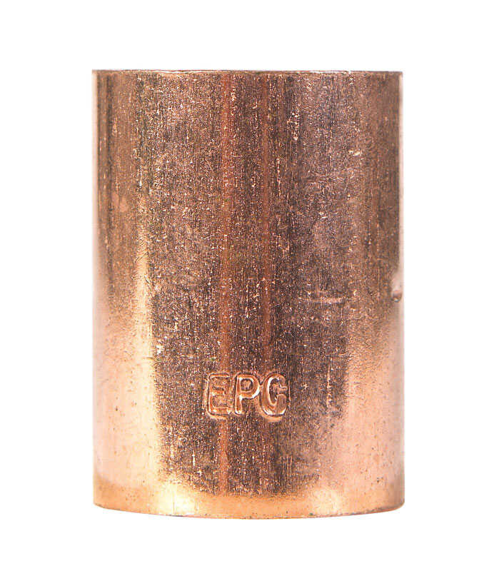Elkhart  1-1/4 in. Sweat   x 1-1/4 in. Dia. Sweat  Copper  Coupling with Stop