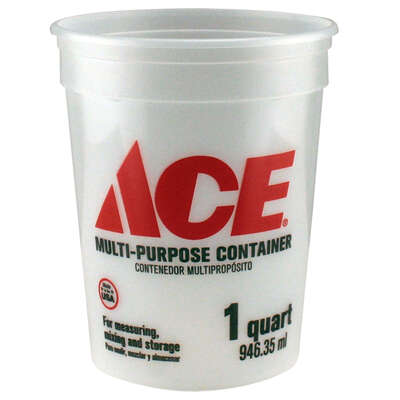 Ace  Clear  1 qt. Plastic  Bucket