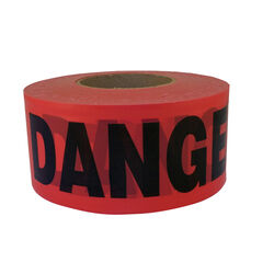 C.H. Hanson  1000 ft. L x 3 in. W Plastic  Danger  Barricade Tape  Red