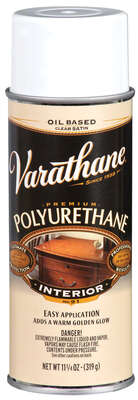 Varathane  Satin  Clear  Oil-Based  Ultimate Polyurethane Finish  11.25 oz.