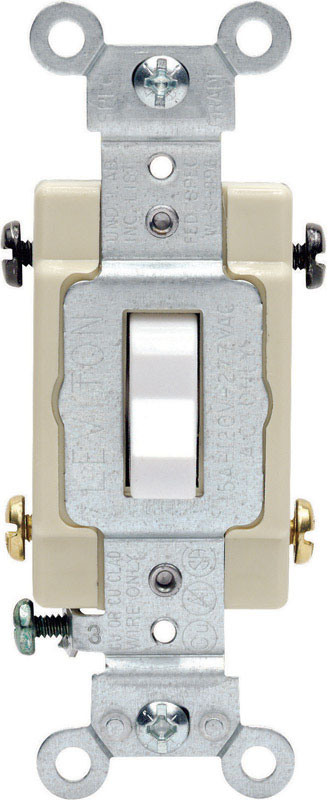Leviton  Commercial  Switch  White  15 amps 1 each Toggle