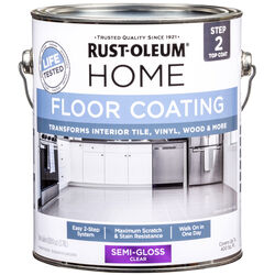 Rust-Oleum  Home Top Coat  Semi-Gloss  Clear  Floor Paint  1 gal.