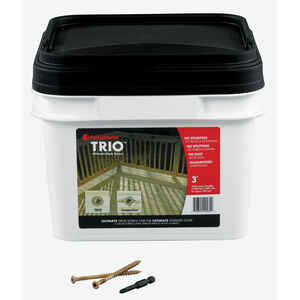 FastenMaster  Trio  No. 10   x 3 in. L Torx TTAP  Flat Head Epoxy  Deck Screws  1050 per box 1050 pe