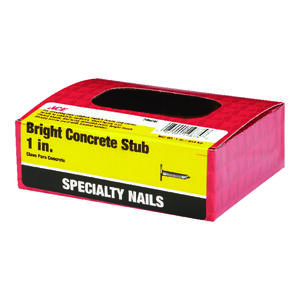 Ace  1 in. L Concrete  Bright  Nail  Fluted  Flat  1 lb.