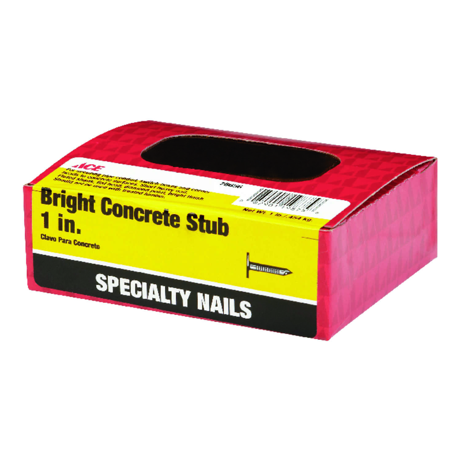 Ace  1 in. L Concrete  Nail  Flat Head Fluted  1 lb.