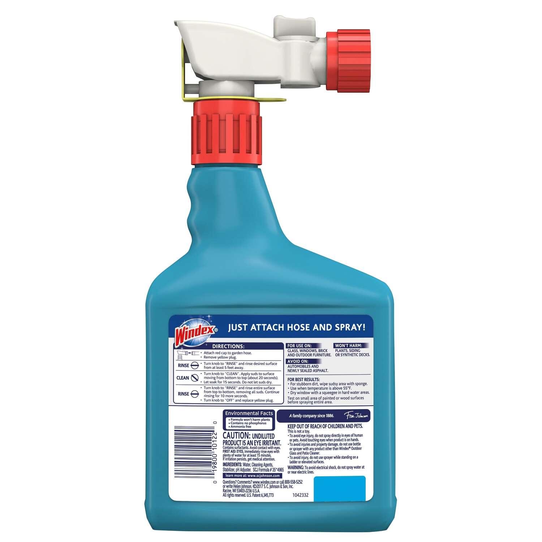 Windex No Scent Outdoor Gl Cleaner 32 Oz Liquid