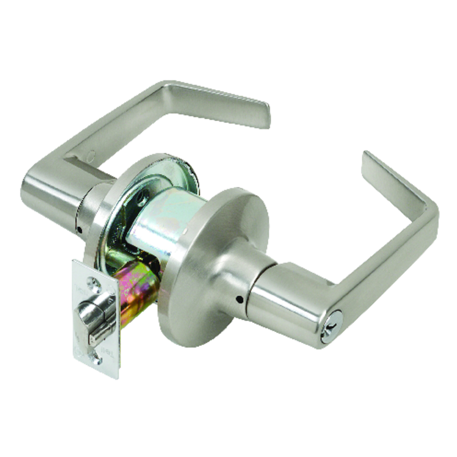 Tell  Cortland  Satin Chrome  Steel  Entry Lockset  ANSI Grade 2  2 in.