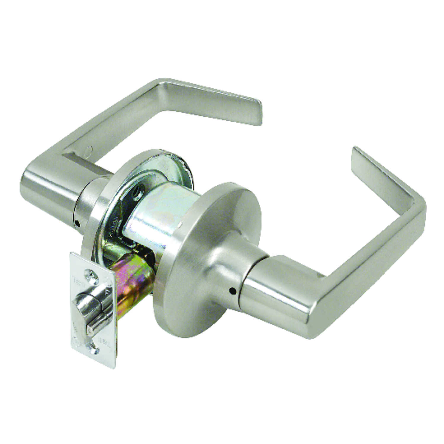 Tell  Cortland  Satin Chrome  Passage Lockset  ANSI Grade 2  2 in.