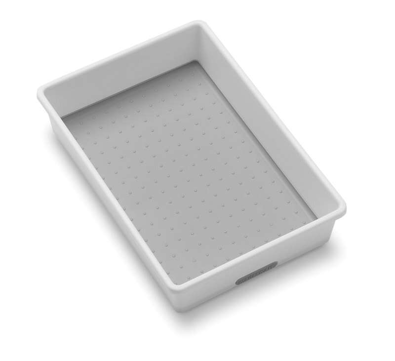 Madesmart  6.75 in. W x 9.75 in. L White  Plastic  Drawer Organizer