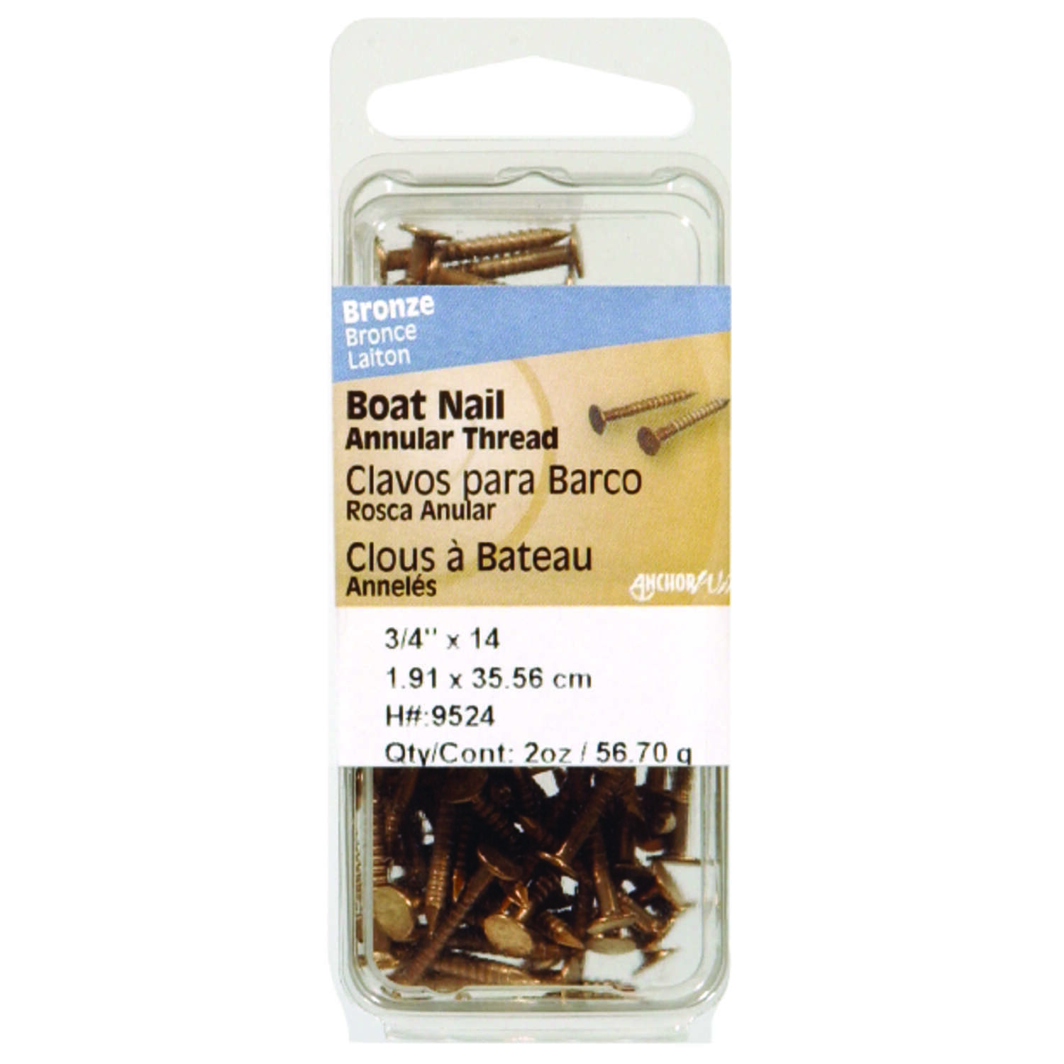 Hillman  1-1/2 in. Boat  Stainless Steel  Nail  Flat