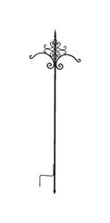Panacea  Black  Steel  84 in. H Quatrefoil  Plant Hook  1 pk