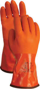 Atlas  Unisex  Indoor/Outdoor  PVC  Coated  Work Gloves  Orange  L  1 pair
