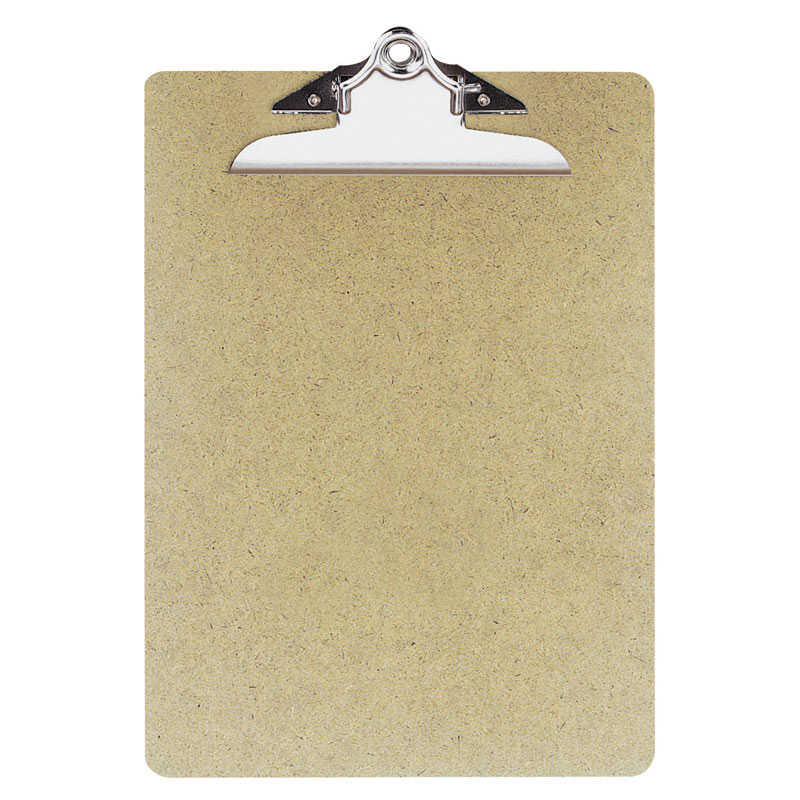 OIC  9 in. W x 12.5 in. L Recycled Hardboard  Clipboard