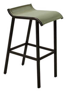 Living Accents  Gray  Steel  Bar Stool  Modern