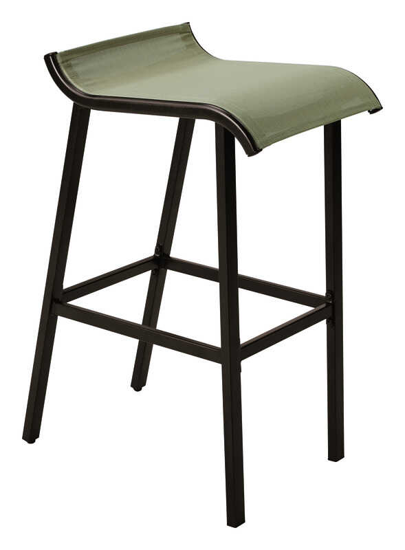 Living Accents  Gray  Steel  Modern  Bar Stool