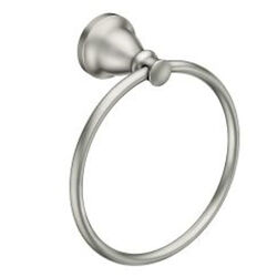 Moen  Hilliard  Brushed Nickel  Towel Ring  Metal