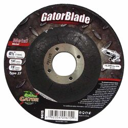 Gator 4-1/2 in. Dia. x 1/4 in. thick x 7/8 in. Metal Grinding Wheel 1 pc.