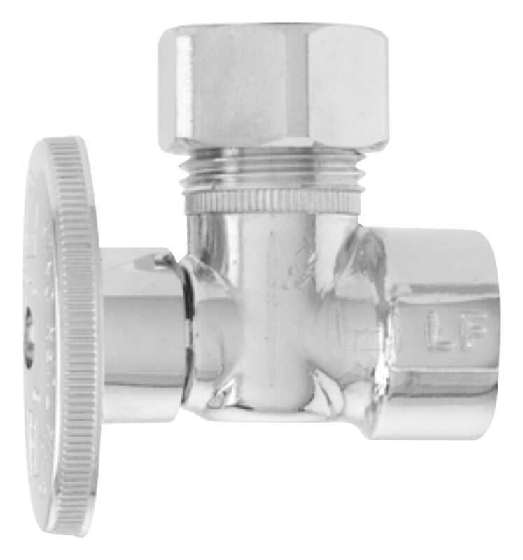 Keeney  1/2 in. Dia. x 1/2 or 7/16 in. Dia. x 1/2 in.  x 1/2 in.  Shut-Off Valve  Brass  Ball