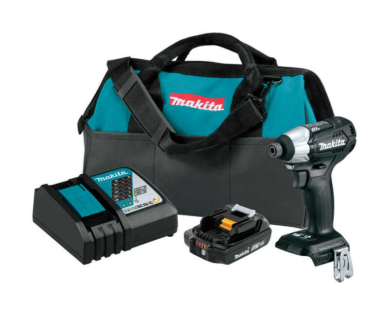 Makita  LXT  18 volt 1/4 in. Hex  Cordless  Brushless Compact Impact Driver  Kit 1240 in-lb