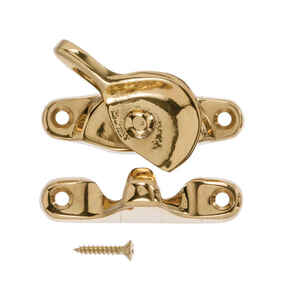 Ace  Solid Brass  Solid Brass  Brass  Crescent Sash Lock  1 pk