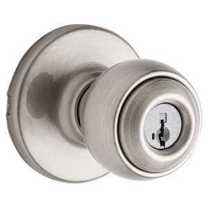 Weiser  Yukon  Satin Nickel  Steel  ANSI/BHMA Grade 3  1-3/4 in. Entry Lockset