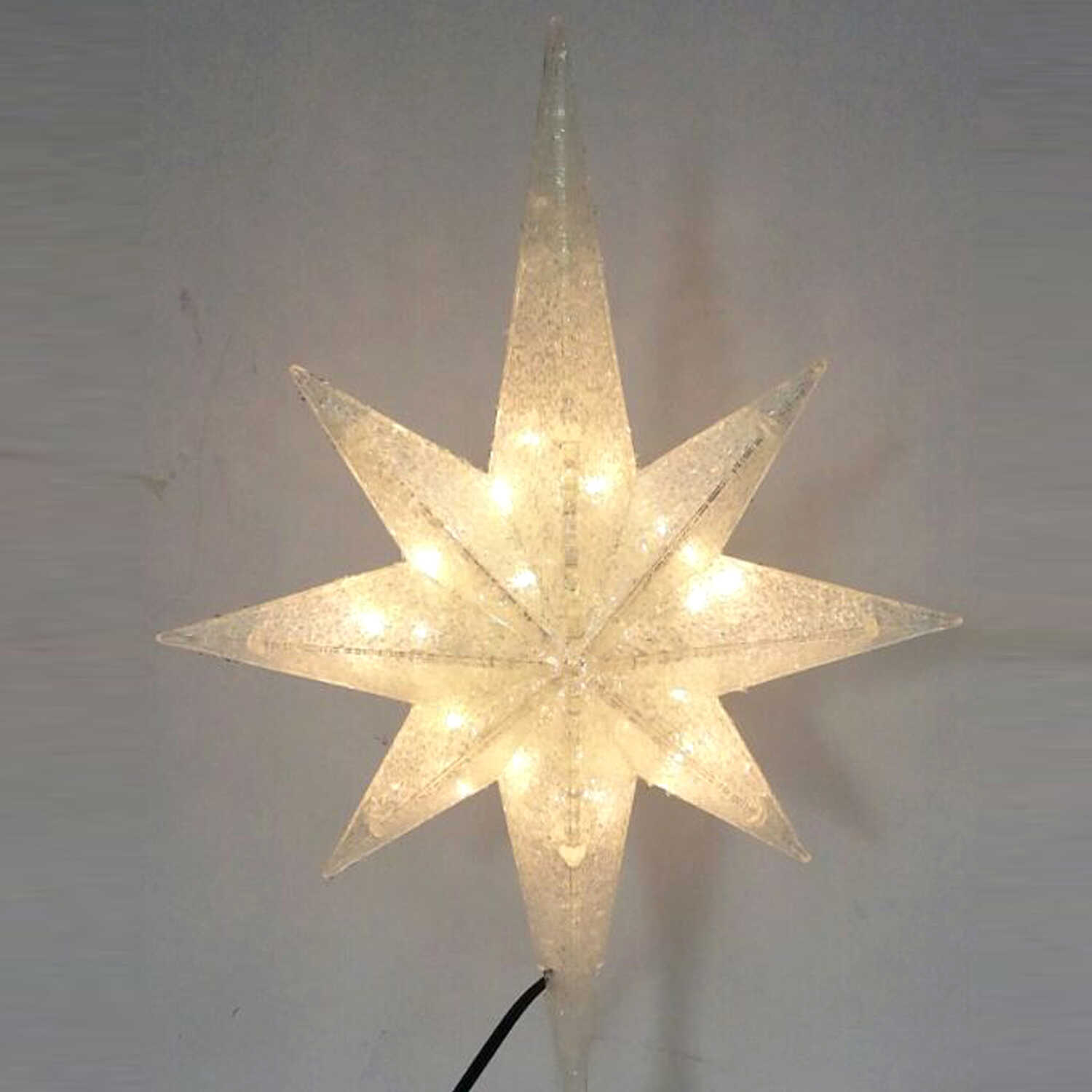 Celebrations  LED Star  Tree Topper  White  1 pc. Plastic
