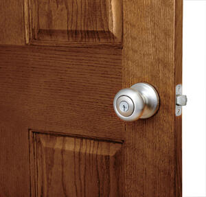 Kwikset  SmartKey  Juno  Satin Nickel  Entry Lockset  ANSI/BHMA Grade 2  KW1  1-3/4 in.