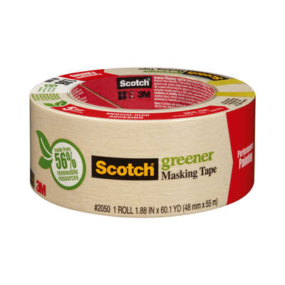 Scotch 1.88 in. W x 60.1 yd. L Beige Medium Strength Masking Tape 1 pk