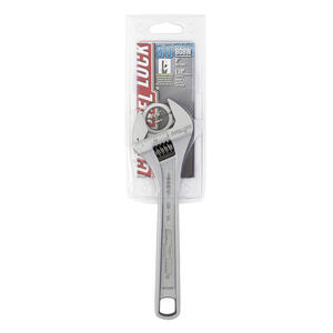 Channellock  8 in. L Metric and SAE  Adjustable Wrench  1 pc.