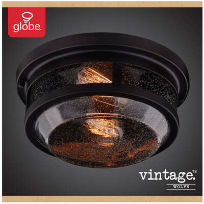 Globe Electric  Vintage  Switch  Natural  Bronze  Dimmable Outdoor Light Fixture  Hardwired