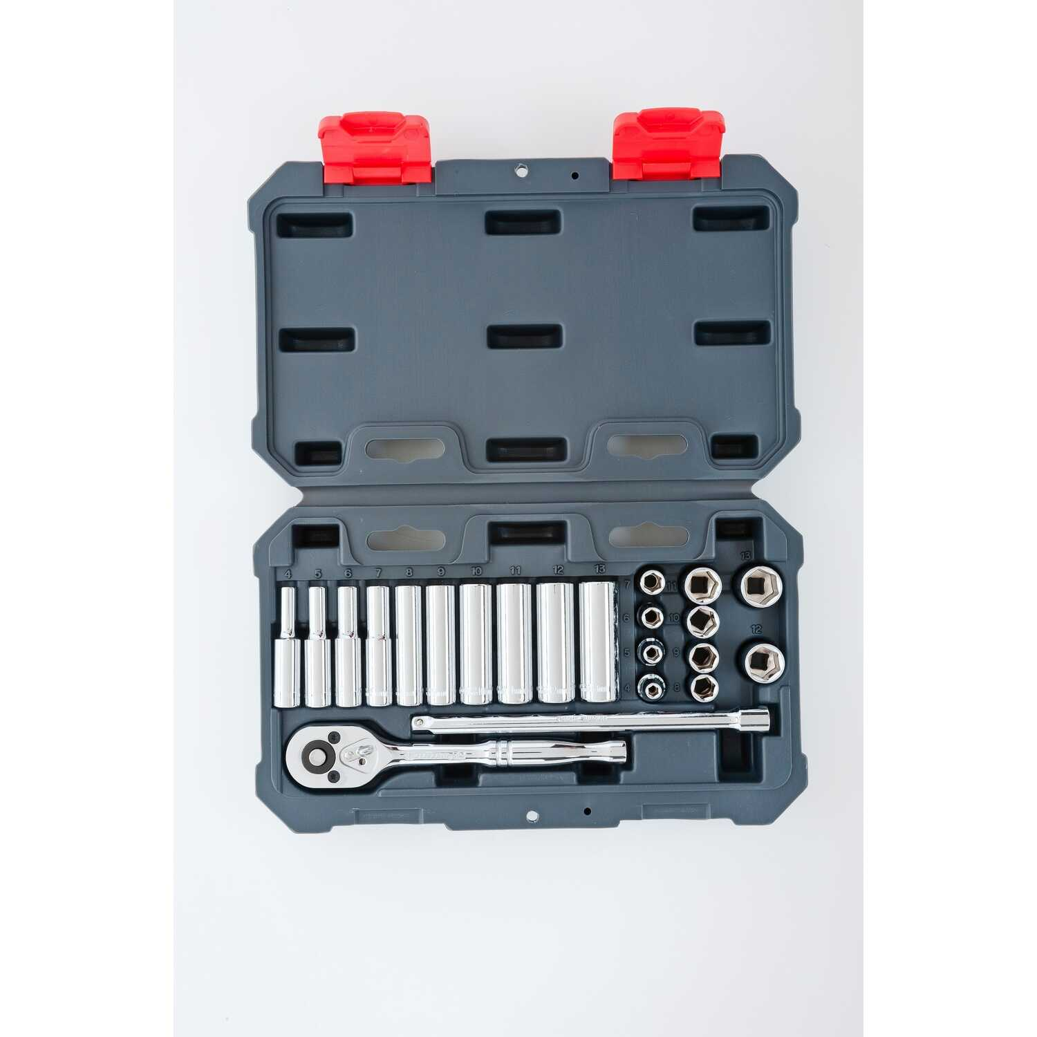 Crescent  1/4 in.  Metric  6  Socket Wrench Set  22 pc.