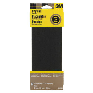 3M  11-1/4 in. L x 4-3/16 in. W 120 Grit Fine  Silicon Carbide  Drywall Sanding Screen  2 pk