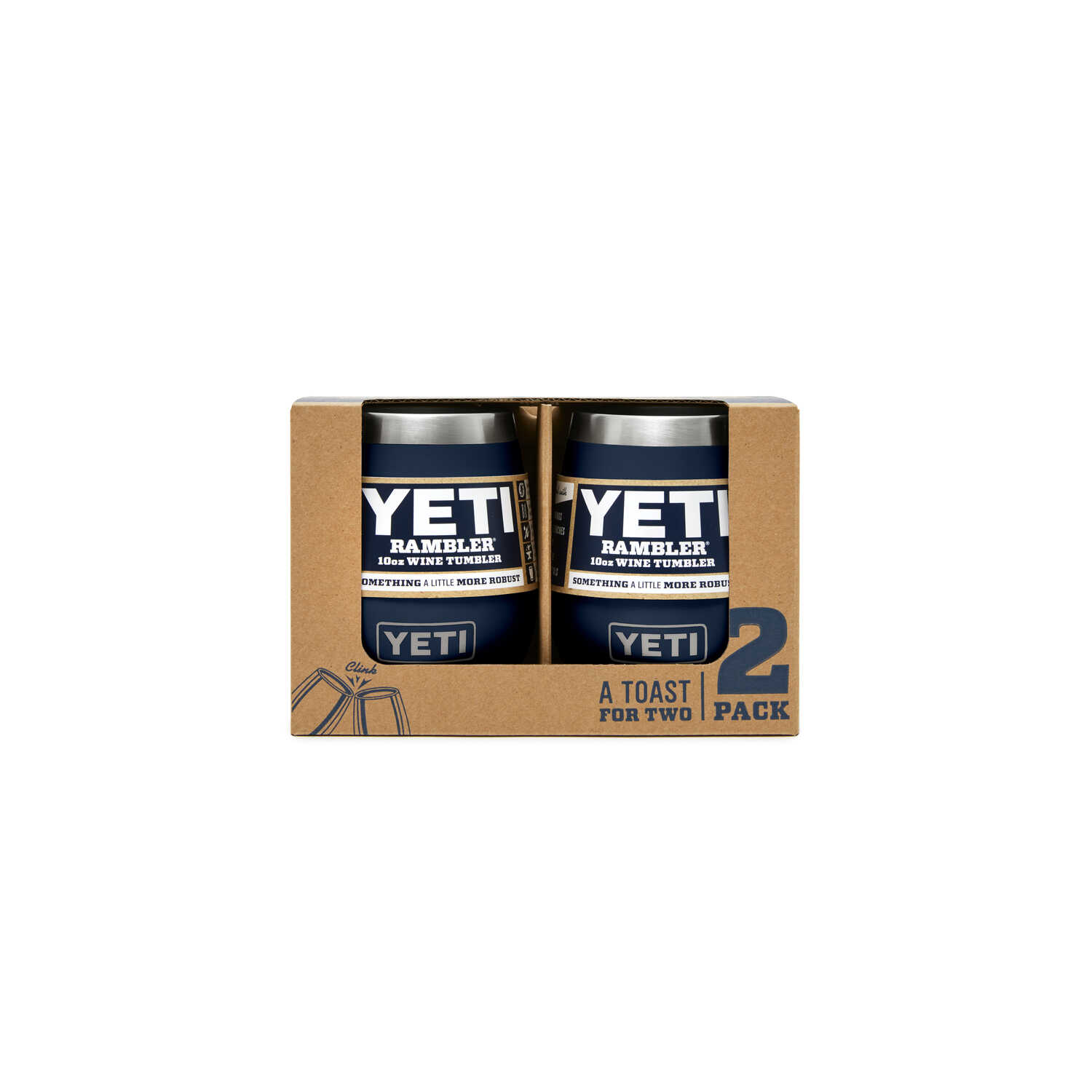 YETI  Rambler  Navy  Stainless Steel  Stemless Wine Glass  BPA Free 10 oz.