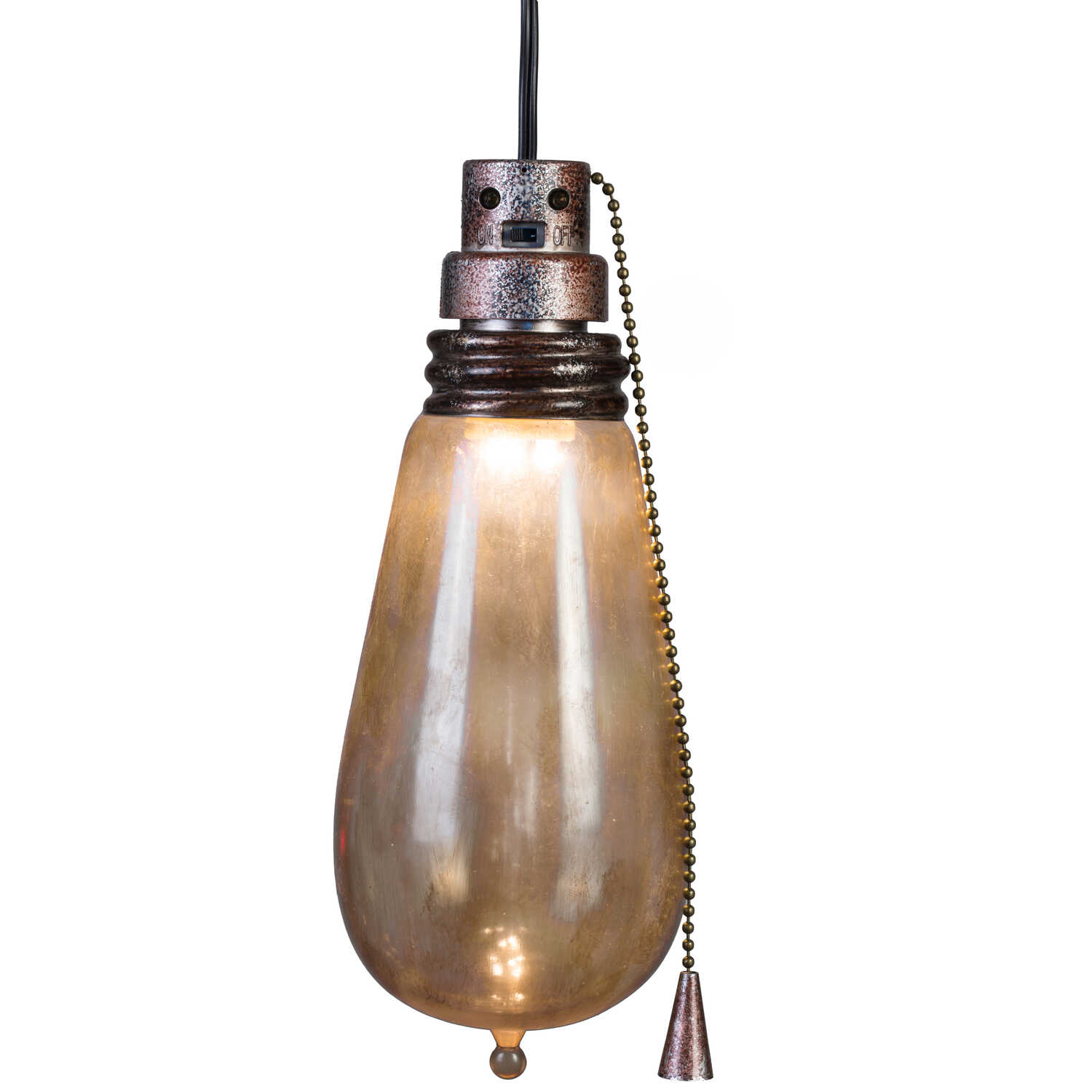 Gemmy  Short Circuit  Rusty Attic Light Bulb  Lighted Halloween Decoration  4 in. H x 4 in. W x 9-1/