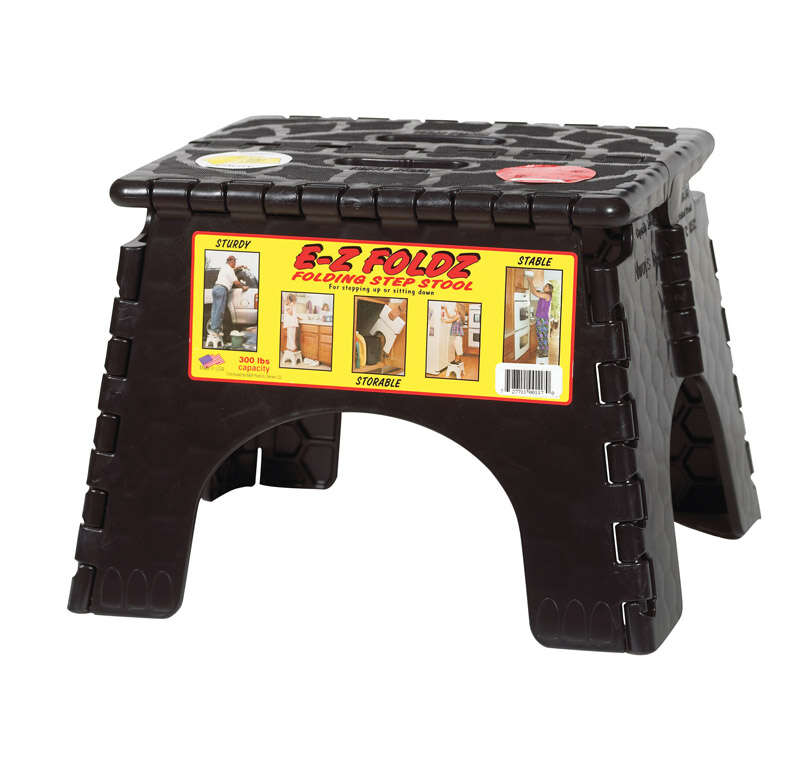 B and R  9 in. H 300 lb. capacity 1 step Resin  Folding Step Stool
