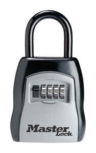 Master Lock  5-7/32 in. H x 1-11/16 in. W x 2 in. L Steel  4-Digit Combination  Locked Key Storage