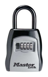 Master Lock  5-7/32 in. H x 1-11/16 in. W Steel  Locked Key Storage  1 each 4-Digit Combination