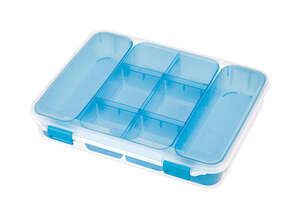 Sterilite  Divided  2.5 in. H x 10.75 in. W x 13.375 in. D Storage Box  Stackable