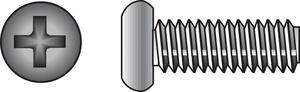 Hillman  No. 6-32 in.  x 1/2 in. L Phillips  Pan Head Stainless Steel  Machine Screws  100 pk