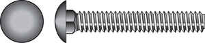 Hillman  3/16 in. Dia. x 1-1/2 in. L Zinc-Plated  Steel  Carriage Bolt  100 pk