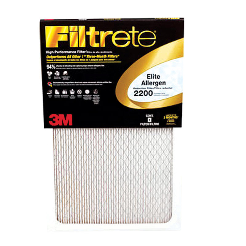 3M  Filtrete  20 in. H x 1 in. D x 20 in. W Air Filter