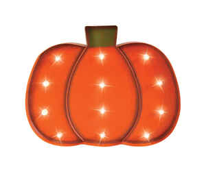Celebrations  LED Pumpkin  Lighted Halloween Decoration  16.14 in. H x 1.97 in. W x 12.20 in. L 1 pk