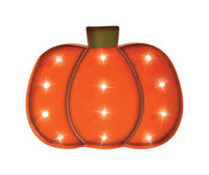 Celebrations  LED Pumpkin  Lighted 16.14 in. H x 1.97 in. W x 12.20 in. L 1 pk Halloween Decoration